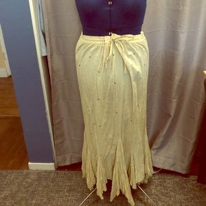 Kommotion NY long skirt with tie string waist.